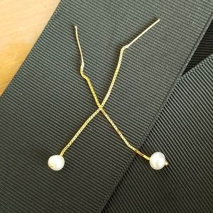 14kt Gold Pearl Earrings